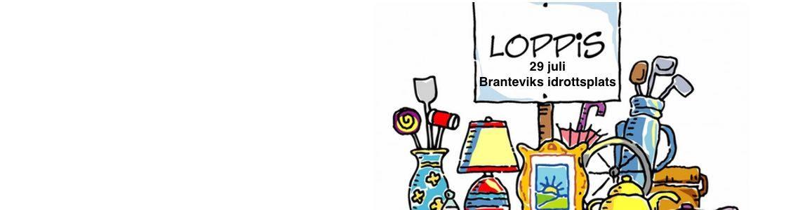 Branteviks IF:s Loppmarknad söndagen den 29 juli.